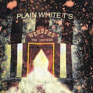 Custom  plain white T's bleached t-shirt